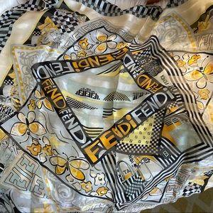 FENDI Silk Logo Scarf